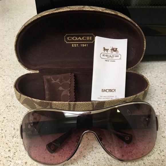 aa6faed19e Coach Accessories - COACH REAGAN SILVER  PURPLE SUNGLASSES